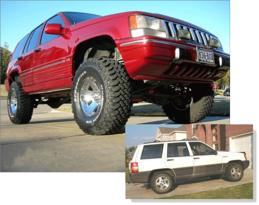 1994 Jeep Grand Cherokee ZJ with 5 inch lift